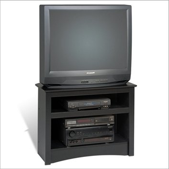 "Corner Tv Cabinets For Flat Screens Throughout Popular Amazon: Black 32"" Corner Tv Stand For Flat Screen Or Crt Tvs (View 20 of 20)"