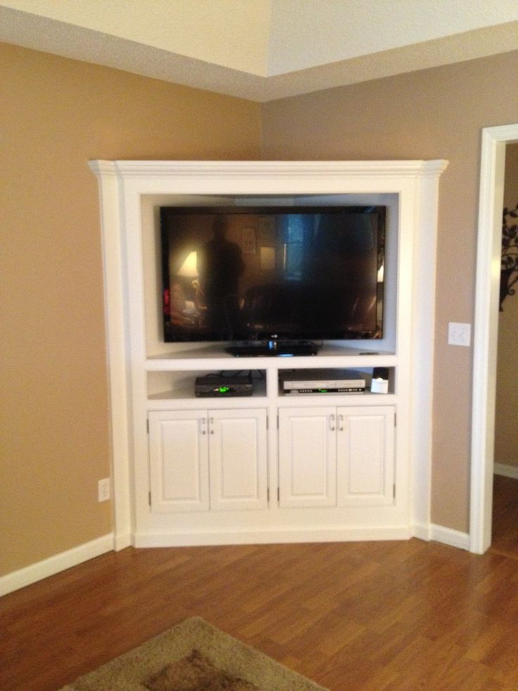 Corner Tv Cabinets For Flat Screens Within Trendy Built In Corner Tv Cabinet (Gallery 4 of 20)