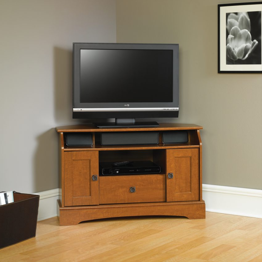 Corner Tv Cabinets With Glass Doors Throughout Newest Tv Stands And Entertainment Centers : Floating Tv Cabinet Media (View 8 of 20)