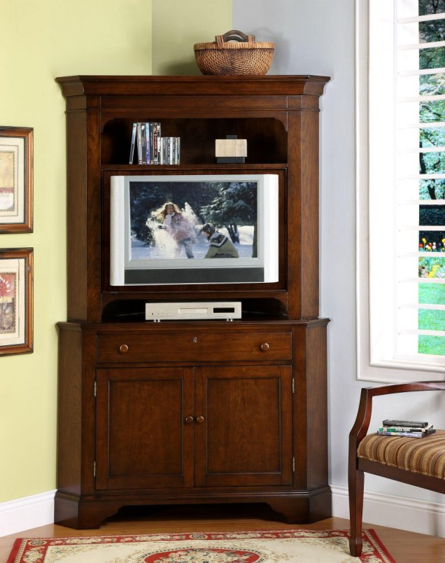 Corner Tv Cabinets With Hutch Intended For Favorite Corner Hutch Cabinet For Tv – Corner Hutch Cabinet : Home Design (View 5 of 20)