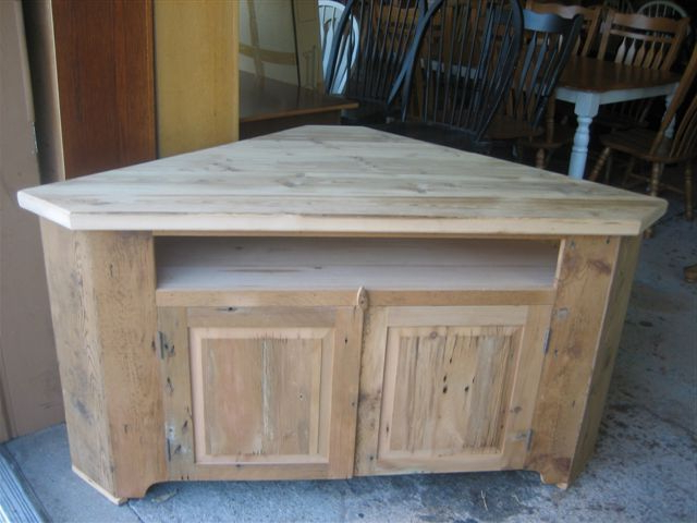 Corner Tv Riser Made From Reclaimed For Wooden Corner Tv Cabinets (View 9 of 20)