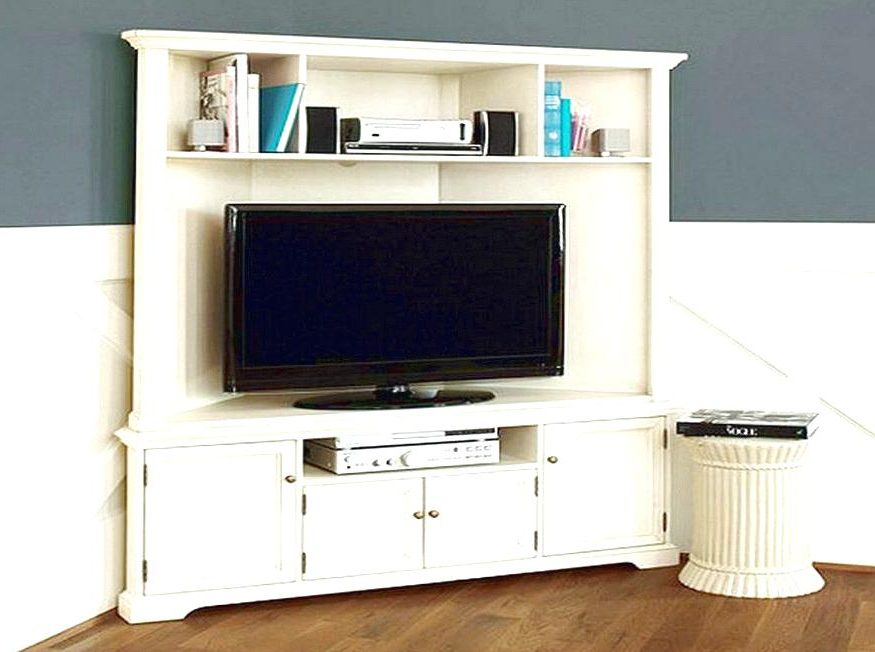 Corner Tv Stand Tall Excellent Stunning White Corner Stands For Flat Within Trendy White Corner Tv Cabinets (View 15 of 20)