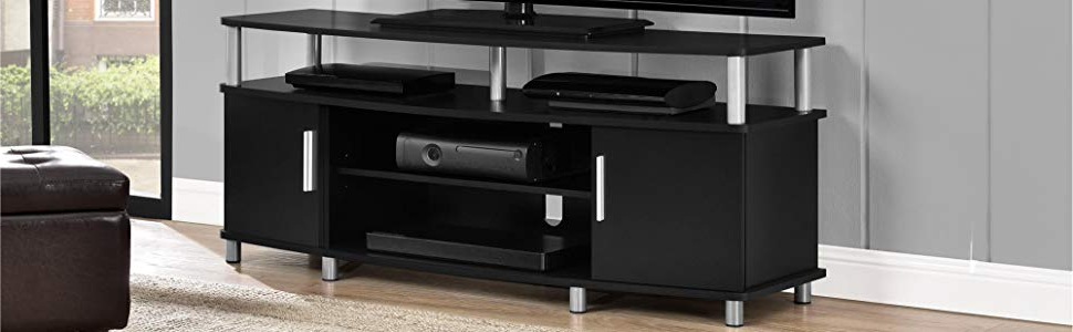 Corner Tv Stands For 55 Inch Tv In Widely Used Amazon: Ameriwood Home Carson Corner Tv Stand For Tvs Up To  (View 8 of 20)