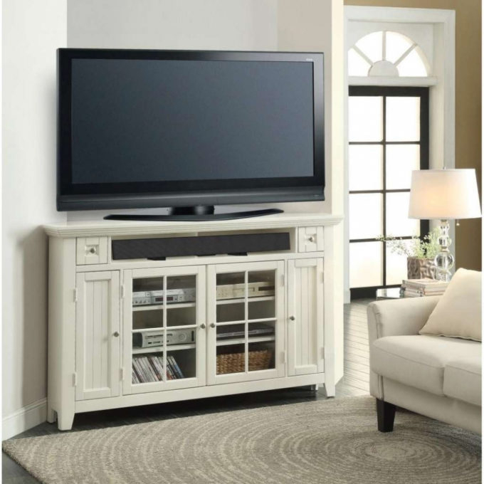 Corner Tv Stands For 55 Inch Tv Inside Preferred Furniture: Enticing Corner 55 Inch Tv Stand Your Residence Idea (View 9 of 20)