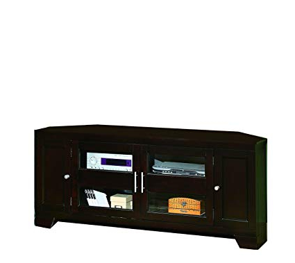 Corner Tv Stands For 60 Inch Flat Screens Within Best And Newest Amazon: William's Home Furnishing 5191 Corner Tv Stand, 60 Inch (View 13 of 20)