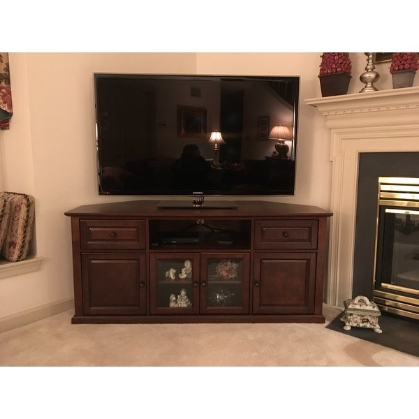 Corner Tv Stands For 60 Inch Tv Inside Widely Used Shop Vintage Mahogany 60 Inch Corner Tv Stand – Free Shipping Today (View 5 of 20)