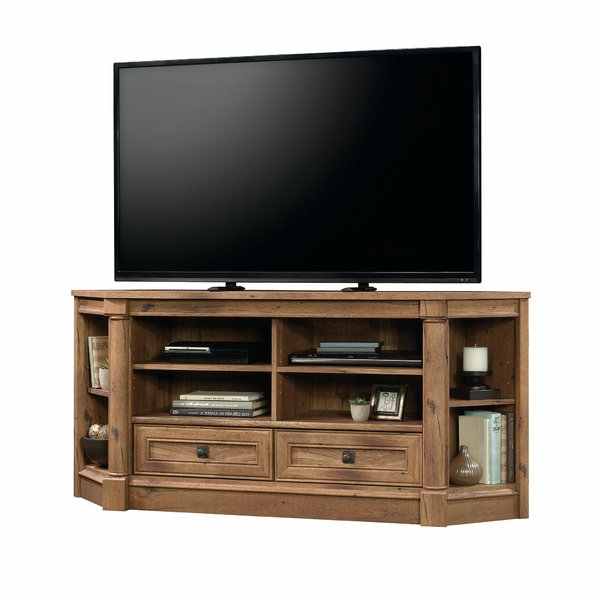 Corner Tv Stands You'll Love Pertaining To Popular Black Corner Tv Stands For Tvs Up To (View 2 of 20)