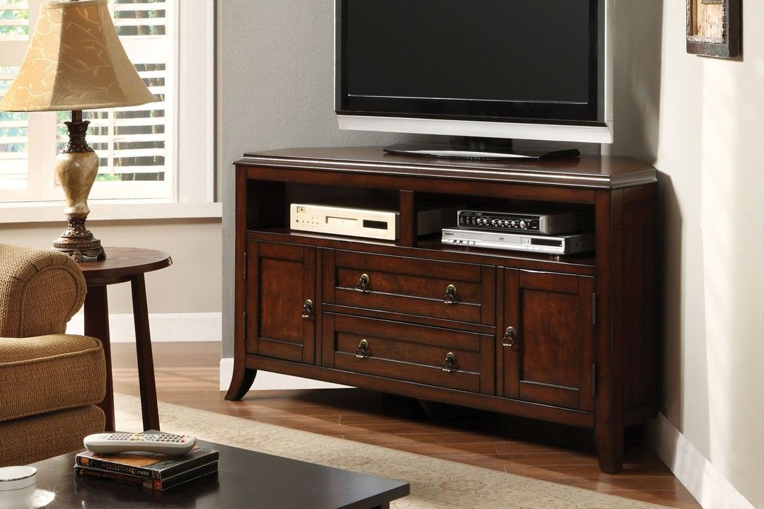 Corner Tv Tables Stands In Most Recent Cm5305 Sterling Cottage Style Corner Tv Console – Sterling Cottage (Gallery 10 of 20)
