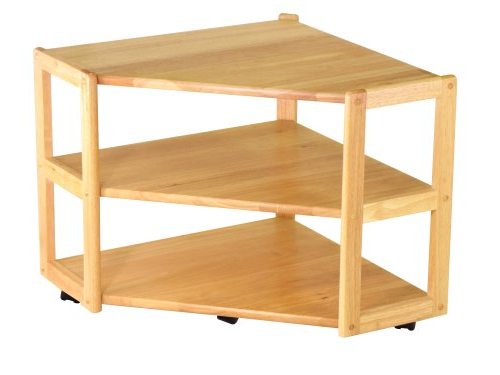 Corner Tv Tables Stands With Regard To Recent Amazon: Winsome Wood Corner Tv Stand, Natural: Kitchen & Dining (View 7 of 20)