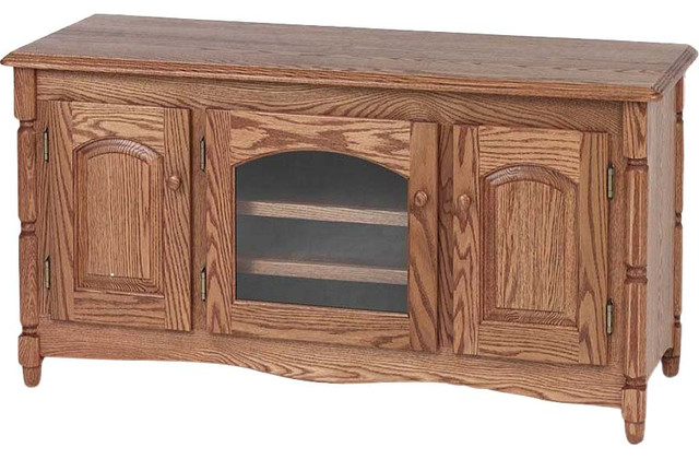 """Country Style Solid Oak Tv Stand With Cabinet, 51"""" – Traditional Regarding Most Recent Hardwood Tv Stands (Gallery 6 of 20)"""
