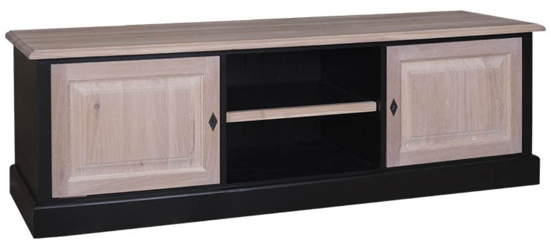 Country Style Tv Cabinets Regarding Well Liked Casa Padrino Country Style Tv Cabinet Black / Natural Colors 180 X (View 10 of 20)