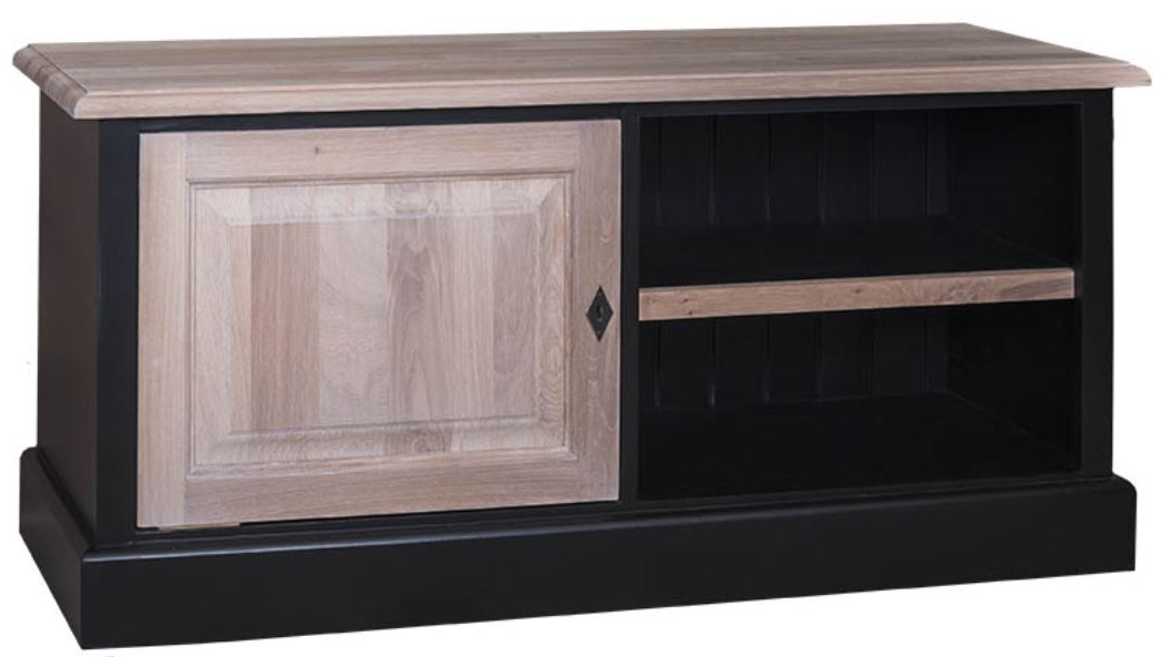 Country Style Tv Cabinets Throughout Latest Casa Padrino Country Style Tv Sideboard Black / Natural Colors 120 X (View 11 of 20)