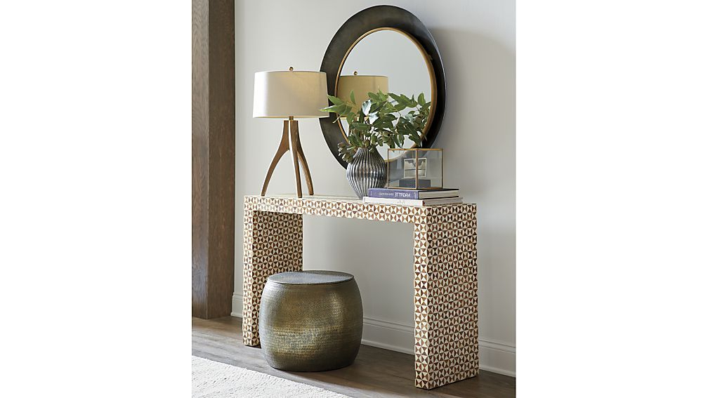 Crate And Barrel $1500 Overall Dimensions Pertaining To Fashionable Intarsia Console Tables (View 6 of 20)