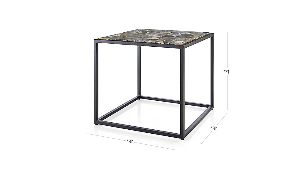 Crate And Barrel In Mix Leather Imprint Metal Frame Console Tables (View 5 of 20)