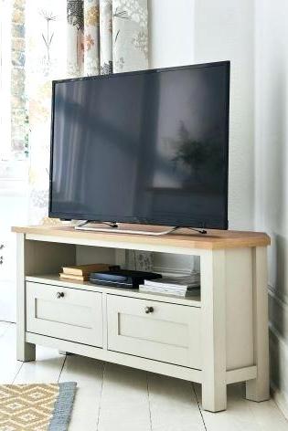 Cream Corner Tv Stands Regarding Trendy White Wood Corner Tv Stand Mission Corner Stand – Forextrading21 (Gallery 14 of 20)