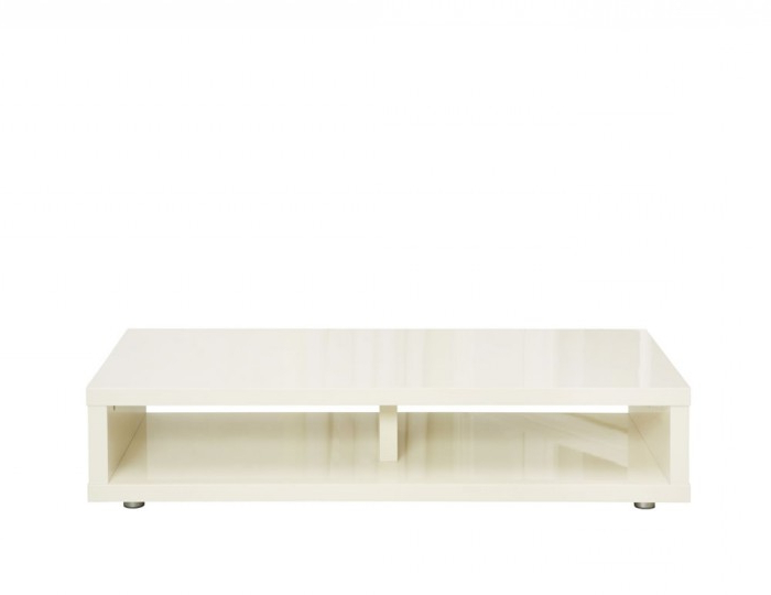 Cream Gloss Tv Stands Throughout Most Current Puro Cream High Gloss Tv Stand (Gallery 9 of 20)
