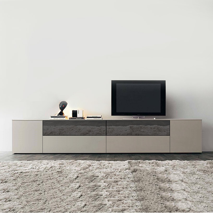 Cream High Gloss Tv Cabinets Throughout 2018 Space Extra Large Cream Mirrored Tv Unit (View 8 of 20)