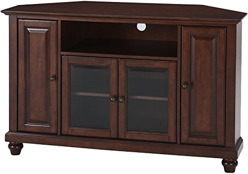 Crosley Furniture Cambridge 48 Inch Corner Tv Stand – Vintage Mahogany With Well Known Mahogany Corner Tv Cabinets (Gallery 15 of 20)