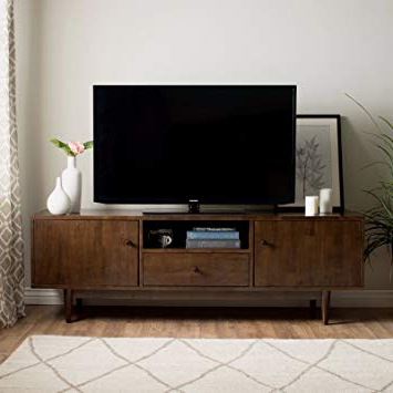 Current Amazon: Mfr Furniture Mid Century Modern Tv Stand Provides Retro With Regard To Modern Tv Entertainment Centers (View 7 of 20)