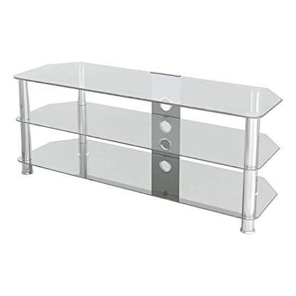 Current Clear Glass Tv Stand With Amazon: Avf Sdc1250Cmcc A Classic – Corner Glass Tv Stand (Up To (View 20 of 20)