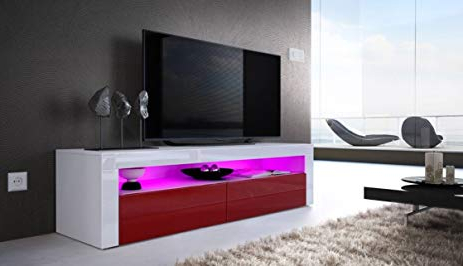 Current Contemporary Tv Cabinets Intended For Amazon: Helios 157 Contemporary Tv Cabinets For Living Room / Tv (View 8 of 20)