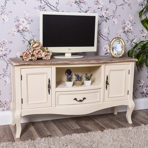 Current Cream Tv Cabinets Pertaining To Shabby Chic Tv Cabinets – Shabby Chic Tv Unit (Gallery 5 of 20)