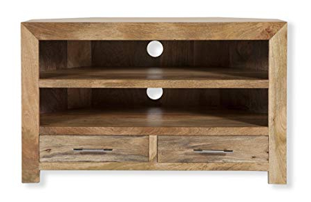 Current Cubepine & Oak Warehouse Cube Mango Wood Corner Tv Cabinet/solid In Mango Wood Tv Stands (View 18 of 20)
