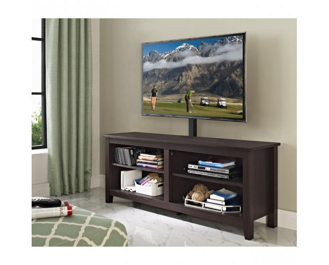 "Current Expresso Tv Stands For 58"" Wood Tv Stand With Mount, Expresso – Stands – Furniture (View 2 of 20)"