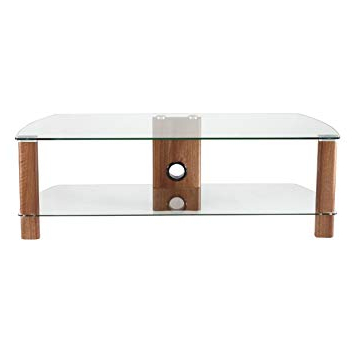 Current Glass Tv Stands Regarding Alphason Century Adce1200 Wal Clear Glass Tv Stand: Amazon.co (View 6 of 20)