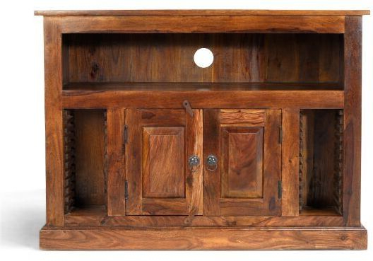 Current Heritage Furniture Indian Jali Dark Sheesham Chunky Tv Cabinet – Tv For Chunky Tv Cabinets (Gallery 16 of 20)
