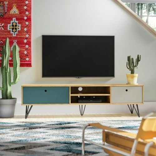 Current Industrial Style Tv Stands Intended For Industrial Style Tv Stand Unit Large Wood Low Board Vintage (Gallery 15 of 20)