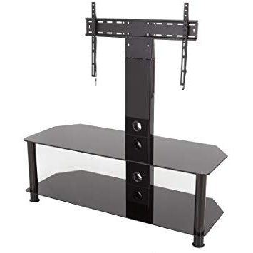 Current King Upright Cantilever Tv Stand With Bracket Black: Amazon.co (View 12 of 20)