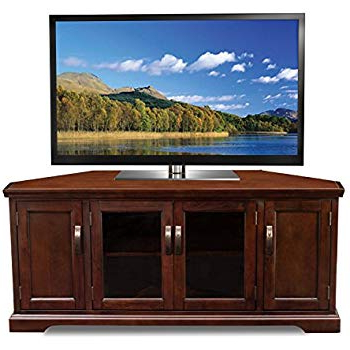 Current Laurent 60 Inch Tv Stands Pertaining To Amazon: Leick 81386 Chocolate Cherry Corner Tv Stand, 60 (Gallery 2 of 20)