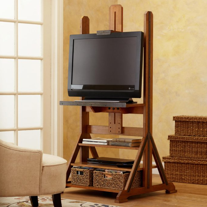 Current Living Room: Sensational Easel Tv Stand Your Home Idea For Easel Tv Stands For Flat Screens (View 3 of 20)