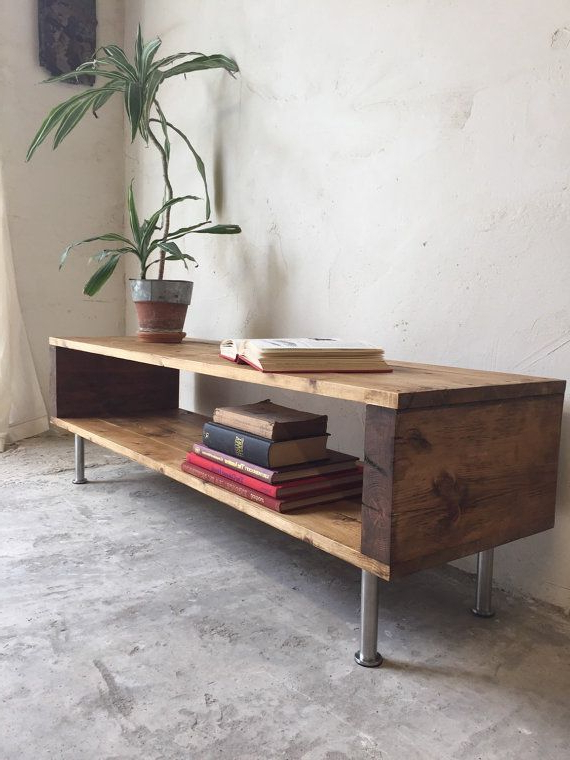 Current Locksbrook Rustic Industrial Vintage Side Table/ Coffee Table/ Tv In Rustic Coffee Table And Tv Stand (Gallery 4 of 20)