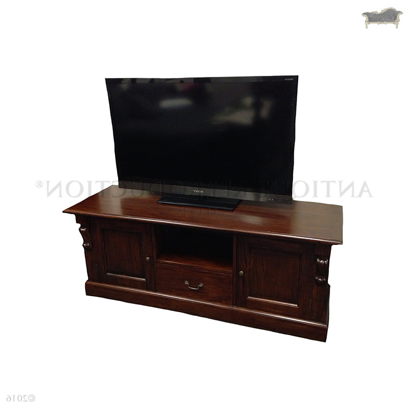 Current Mahogany Tv Stands Throughout Victorian Style Tv Stand Mahogany – Antique Reproduction Shop (View 3 of 20)