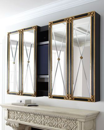 Current Mirror Tv Cabinets Pertaining To Plasma Tv Cabinetmaitland Smith At Horchow (View 5 of 20)