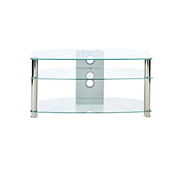 Current Mmt Wil – Cl1000 Clear Glass Tv Stand – Suits 32 To 47 Inch Lcd Led For Glass Tv Stands (Gallery 10 of 20)
