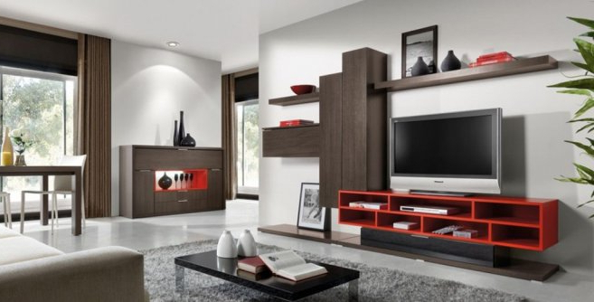 Current Modern Living Room Decoration With Minimalist Lcd Tv Cabinet Design Inside Living Room Tv Cabinets (View 3 of 20)