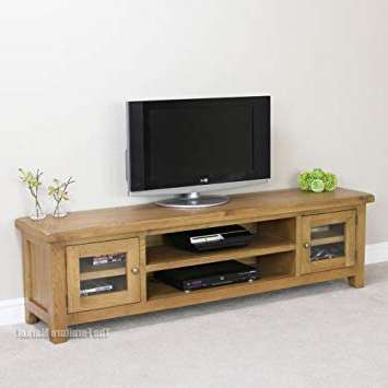 Current Oak Widescreen Tv Units Within Cheshire Oak Large Widescreen Tv Unit: Amazon.co (View 4 of 20)