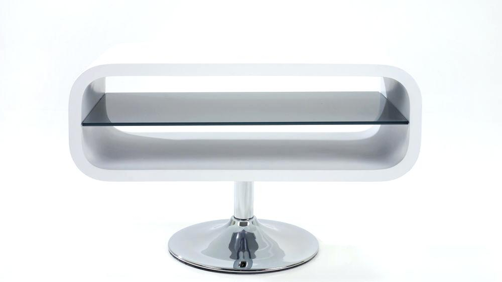 Current Oval White Tv Stands For Small White Tv Stand Hit 2 Modern Stand Led Cabinet Unit High Gloss (Gallery 4 of 20)