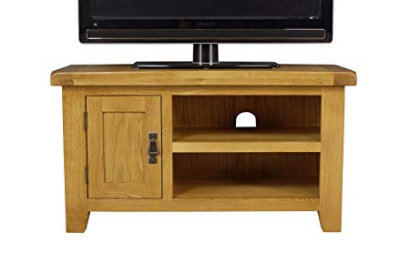 Current Small Tv Stands For Arklow Oak Small Tv Stand/oak Tv Cabinet/living Room Storage: Amazon (View 5 of 20)