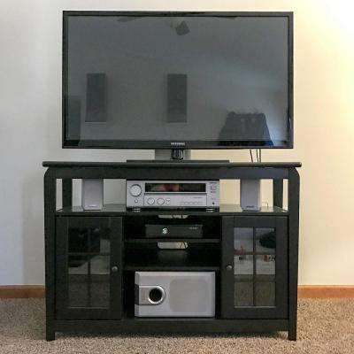 Current Solid Wood Black Tv Stands Intended For Solid Wood – Black – Entertainment Center – Tv Stands – Living Room (Gallery 11 of 20)