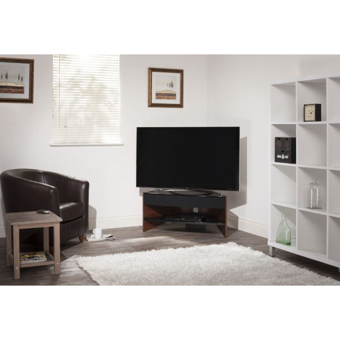 Current Techlink Tv Stands Sale For Techlink Riva Corner Tv Stand Walnut Rv100W (View 10 of 20)