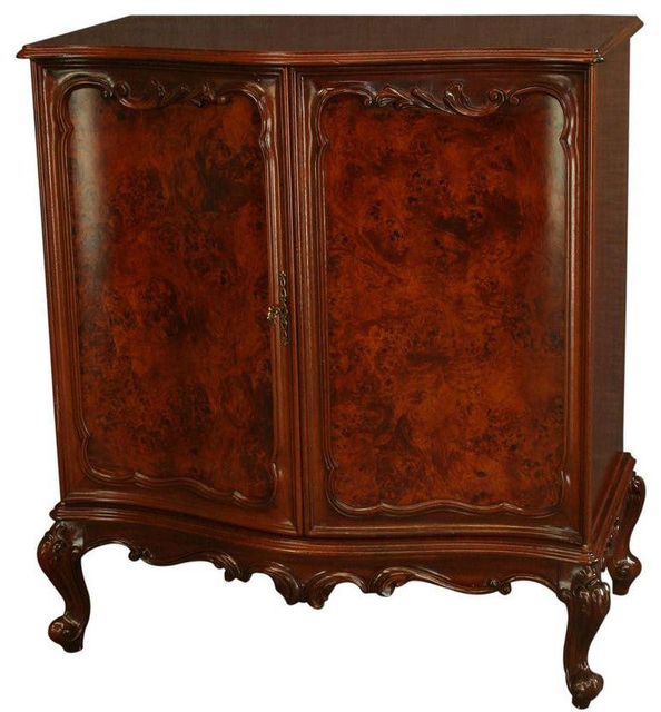 Current Traditional Tv Cabinets In New Rococo Media Tv Cabinet Burled Mahogany (View 7 of 20)