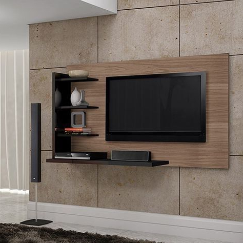 Current Tv With Stands In Wall Mounted Tv Stand With Black Shelves – New – R6000 (Gallery 18 of 20)