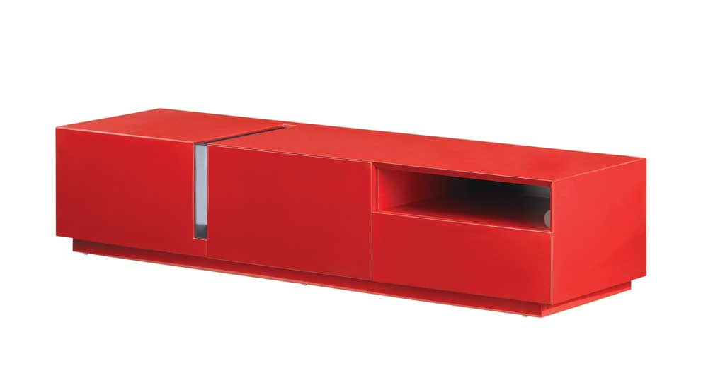 Current Tv027 Red High Gloss Tv Stand Blackj&m Furniture Regarding Red Tv Stands (Gallery 5 of 20)