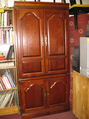 Current Uhuru Furniture & Collectibles: Sold – Cherry Tv Armoire – $100 Regarding Cherry Tv Armoire (Gallery 9 of 20)