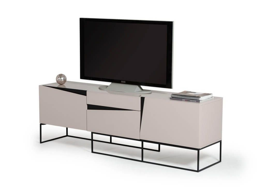 Current Unusual Tv Cabinets For Furniture: Unusual White Small Contemporary Tv Stand Featuring Black (Gallery 11 of 20)