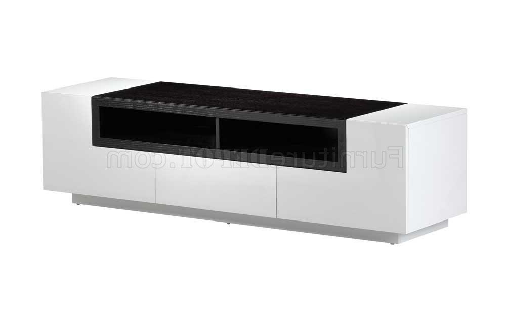 Current White Gloss W/dark Oak Elegant Modern Tv Stand In Dark Tv Stands (View 4 of 20)